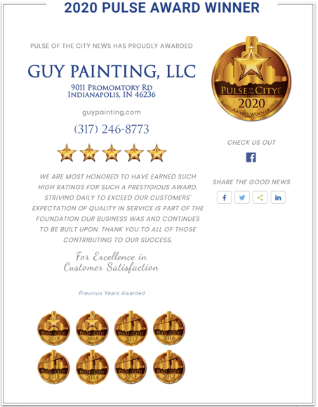 Guy Painting wins best painter of 2020