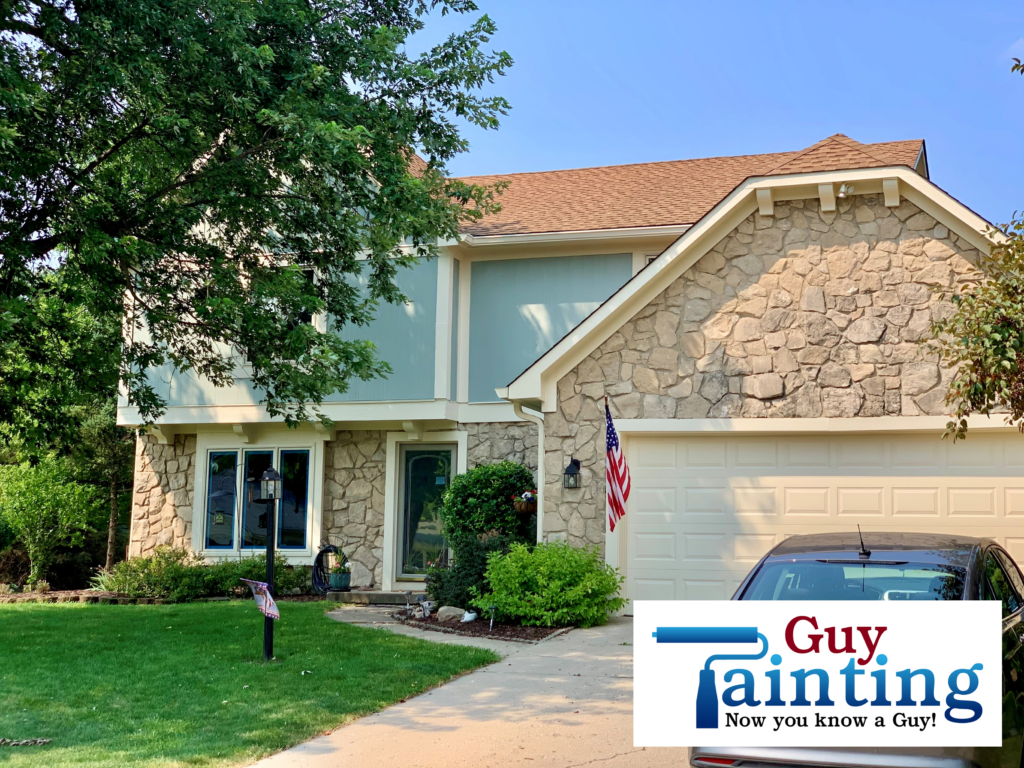 Exterior Home Painting in Indianapolis - House painted in Sherwin Willians Escape Gray