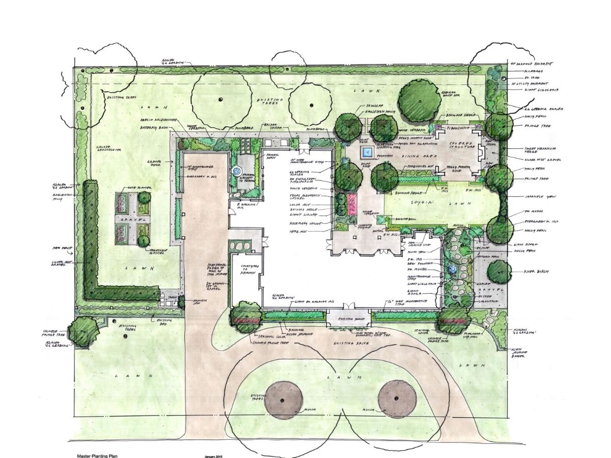 houston piney point garden tellepsen design