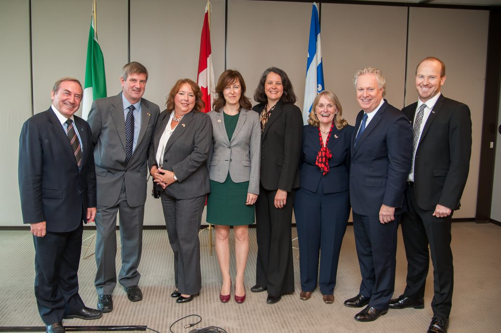Ken Anderson and ICCC board members with Quebec Premier Jean Charest