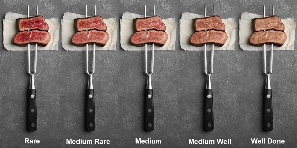 Grassroots Bison Steak Doneness