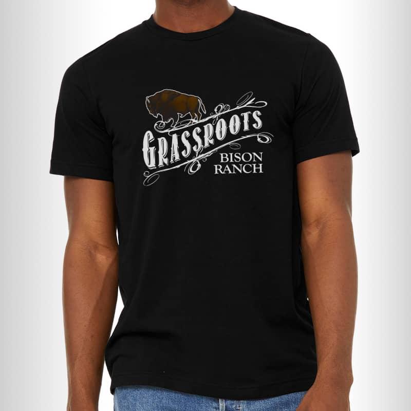 Grassroots Bison Logo Tee