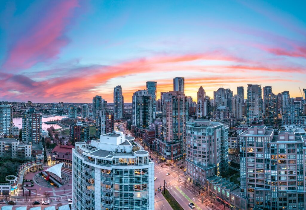 Scope Academics - City landscape at sunset in Canada