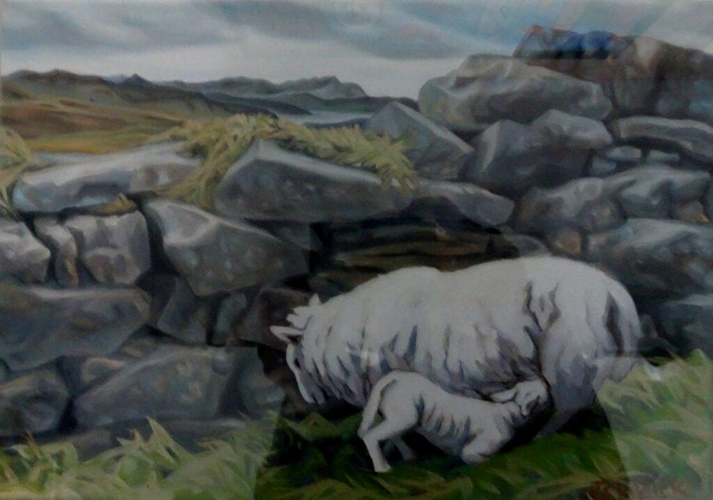 "<p style=""font-size: 16px; line-height: 150%;""><strong><em>Scottish Sheep</em></strong>&emsp;<br />   oil painting&emsp;<br /> 12&rdquo; x 15&rdquo; 