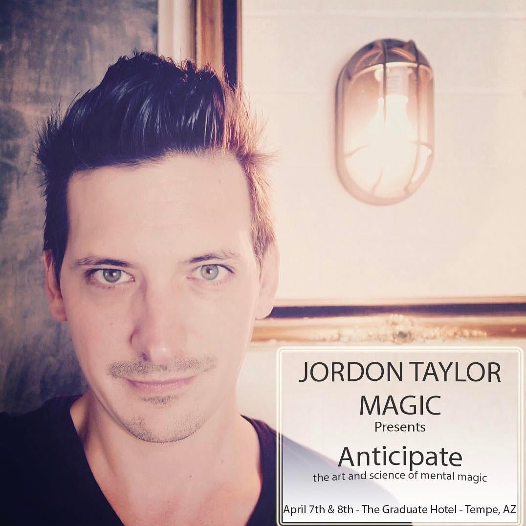 Jordon Taylor Magic Show Anticipate Promotional Photo