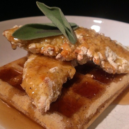 Coconut Chicken and Flax Waffles