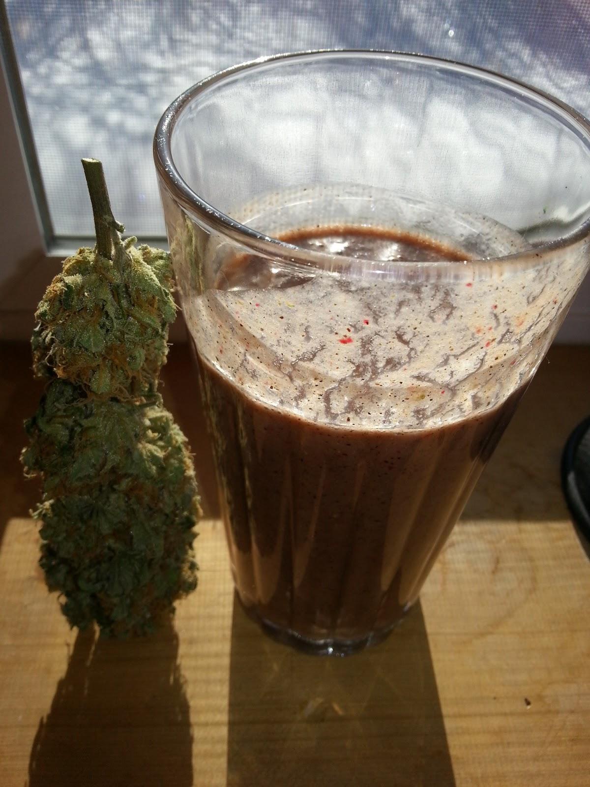 Strawberry Cough Chocolate Fruit Hemp Smoothie
