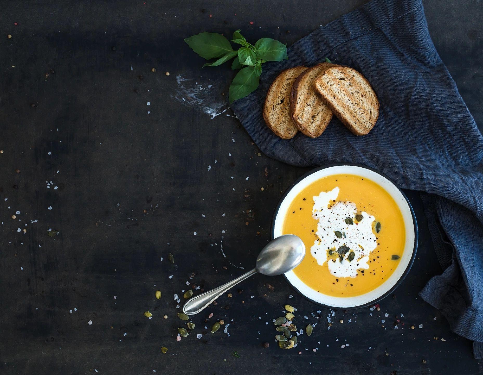 Vegan Gluten-Free Headband Butternut Squash Soup