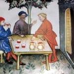 wine on terrace lombardia c. 1395