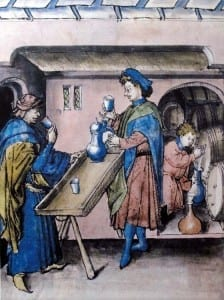 Tasting aromatic wines, Rhine Valley c. 1445