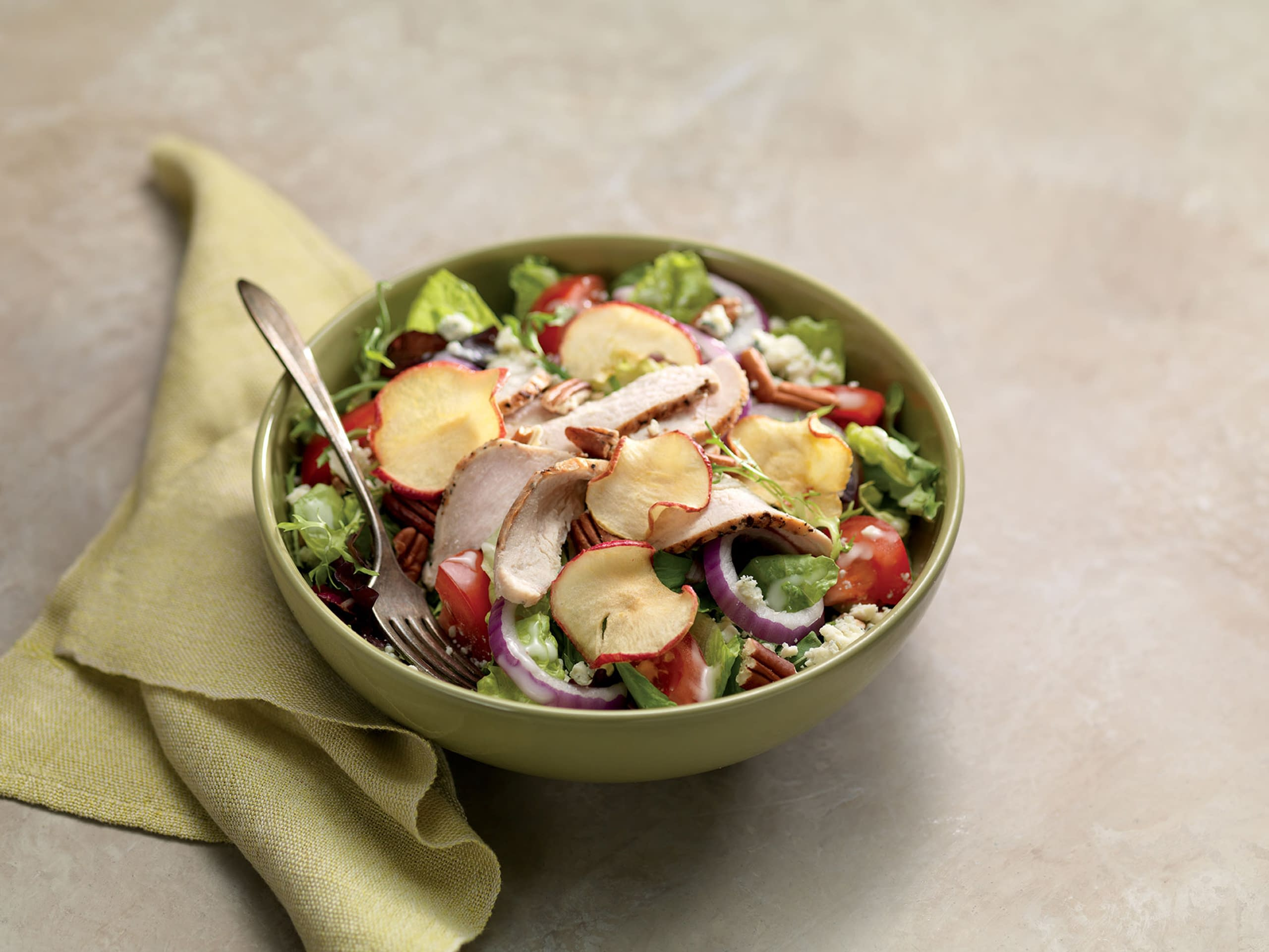 Fuji Apple Green Salad with Chicken