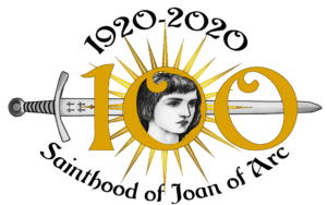 Logo for the 100th anniversary of the canonization of St. Joan of Arc