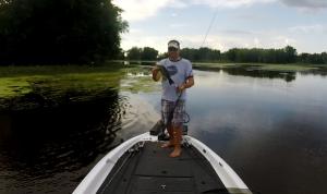 2lb practice fish caught on Evolve Nervous Walker Frog