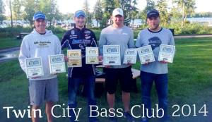 Twin City Bass - Back 2 Back Team Winners!