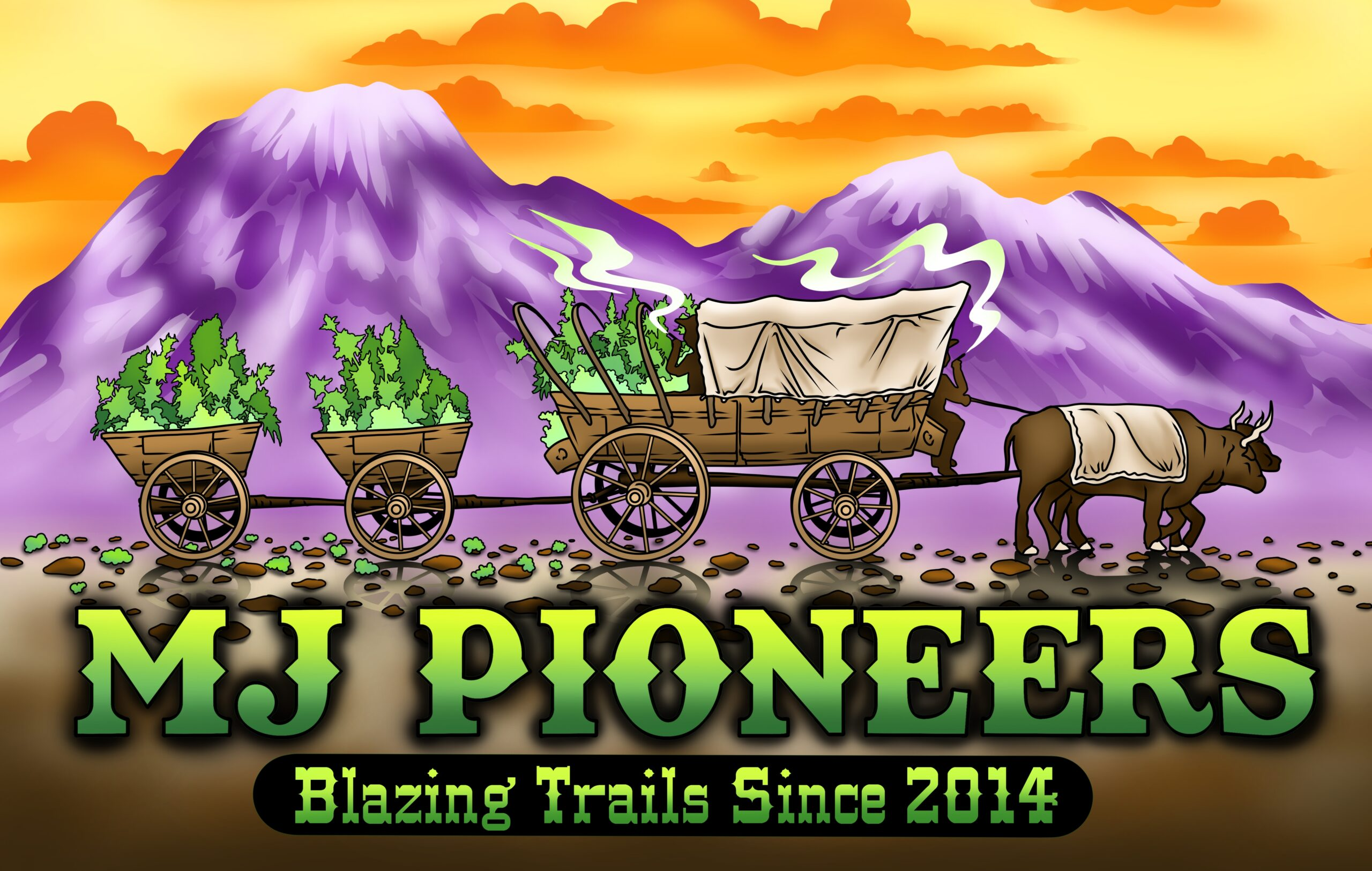MJ Pioneers Blazing Trails Logo