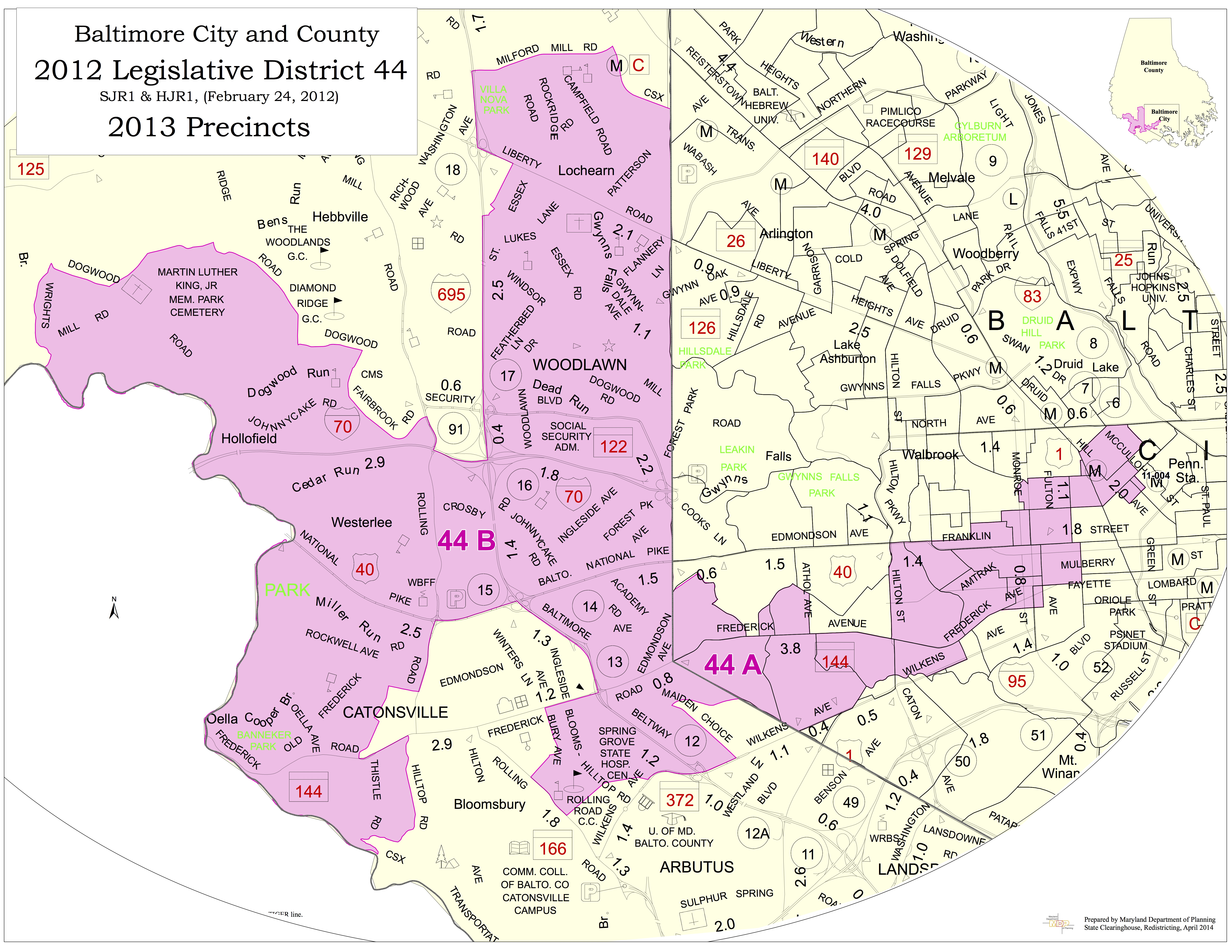 Baltimore City-County District 44 Map