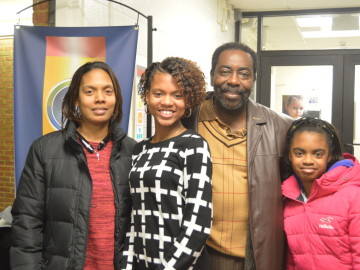 Family at School Board meeting