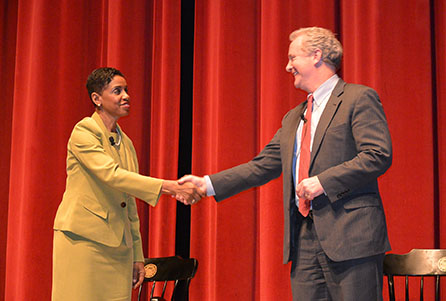 Donna Edwards and Chris Van Hollen