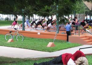 Afternoon practice in Tina Hills Pavilion at Bayfront Park