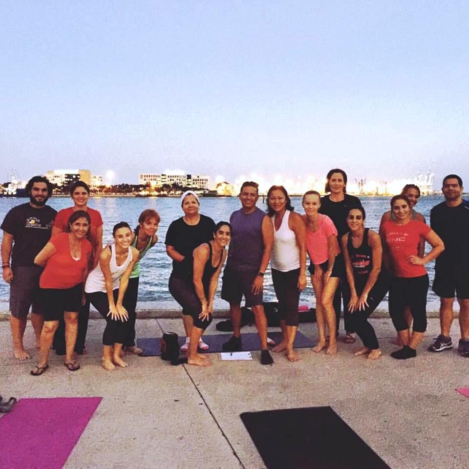 Fall Yoga session at Bayfront Park