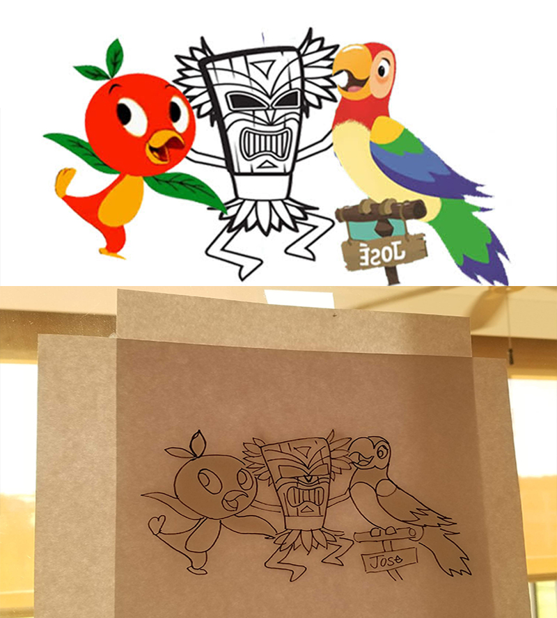 Disney Tiki Room Image Transfer