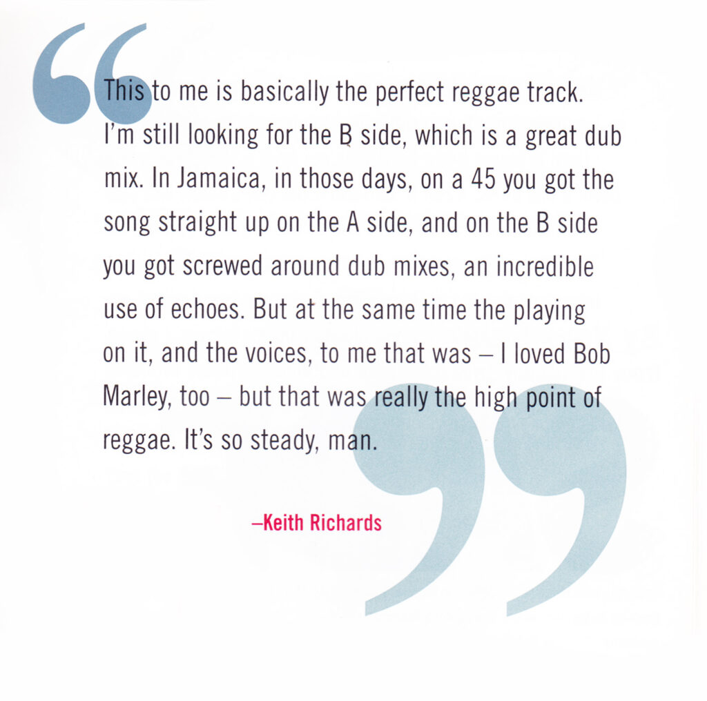 Keith Richards talks about the Itals