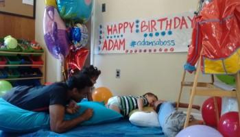 Adam is F O U R years old!