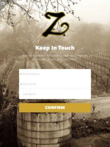 Zenaida Cellars iPad