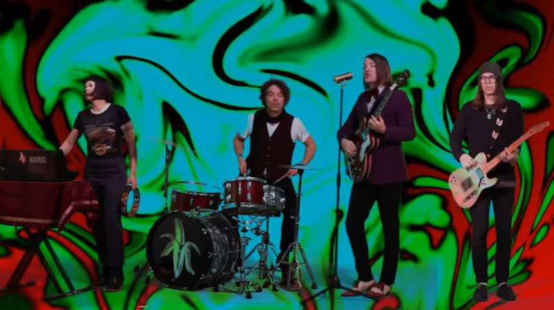 """Still from The Dandy Warhols' video, """"Thick Girls Knock Me Out (Richard Starkey)"""""""