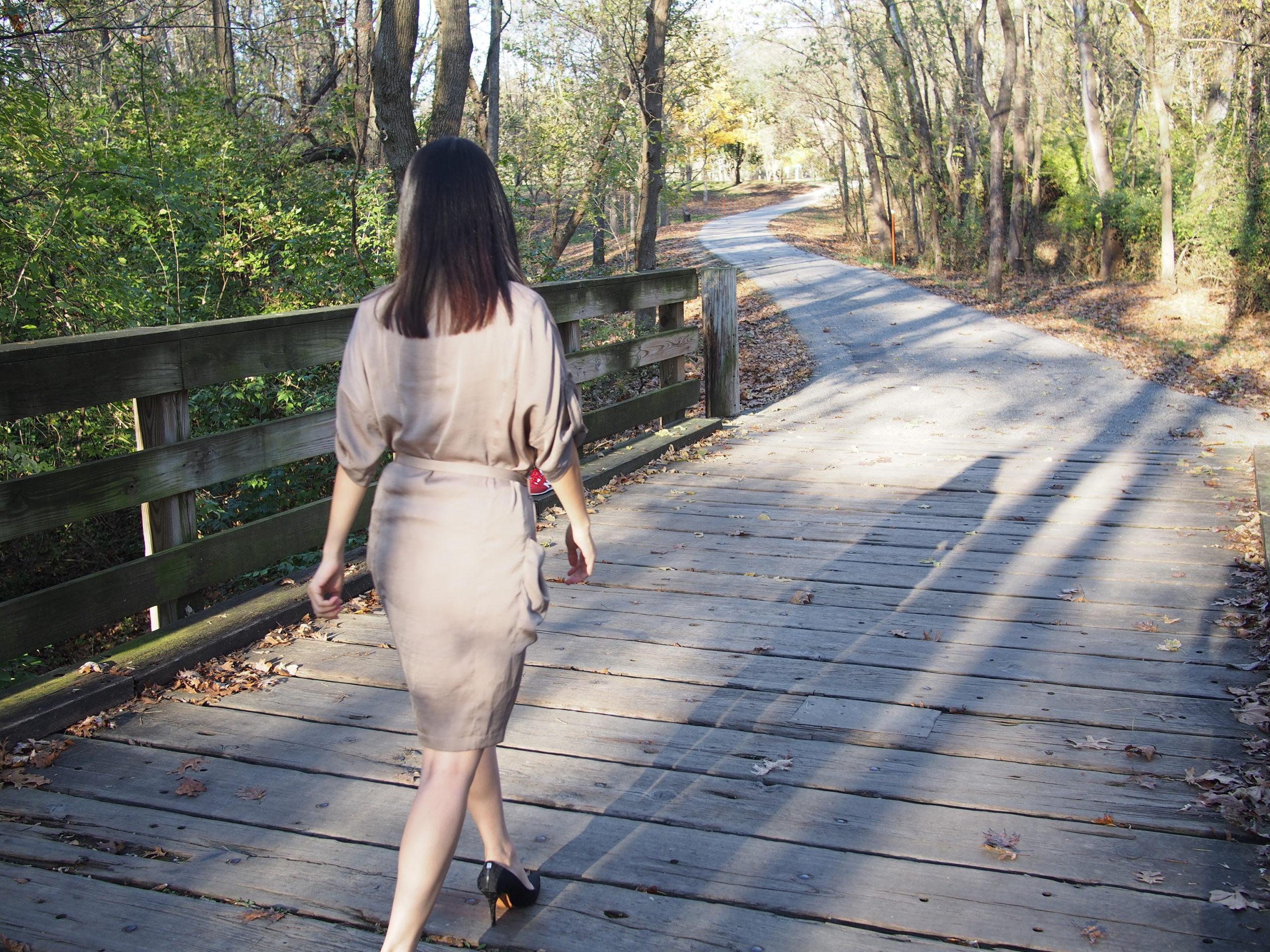 Jill Walking On Bridge
