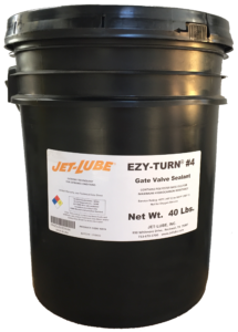 Aliphatic hydrocarbon resistant gate valve lubricant and sealant Jet-Lube Ely-Turn #4.