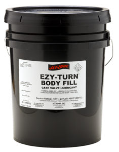 Economical gate valve sealant and lubricant Jet-Lube Ezy-Turn Body Fill.