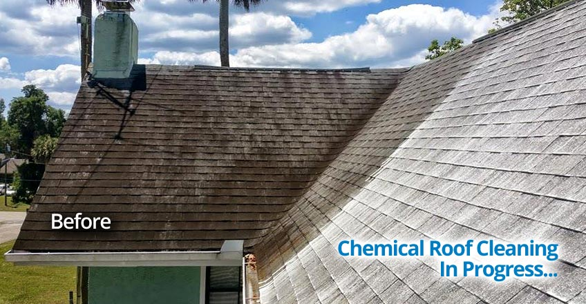Chemical Roof Cleaning Seminole County Central Florida