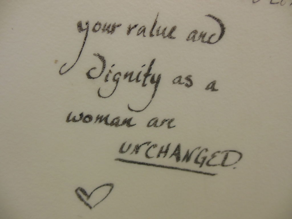 A woman's spontaneous encouragement to a rape survivor's testimony