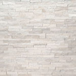 Arctic White Mini Stacked Stone Panels