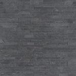Premium Black Mini Stacked Stone Panels