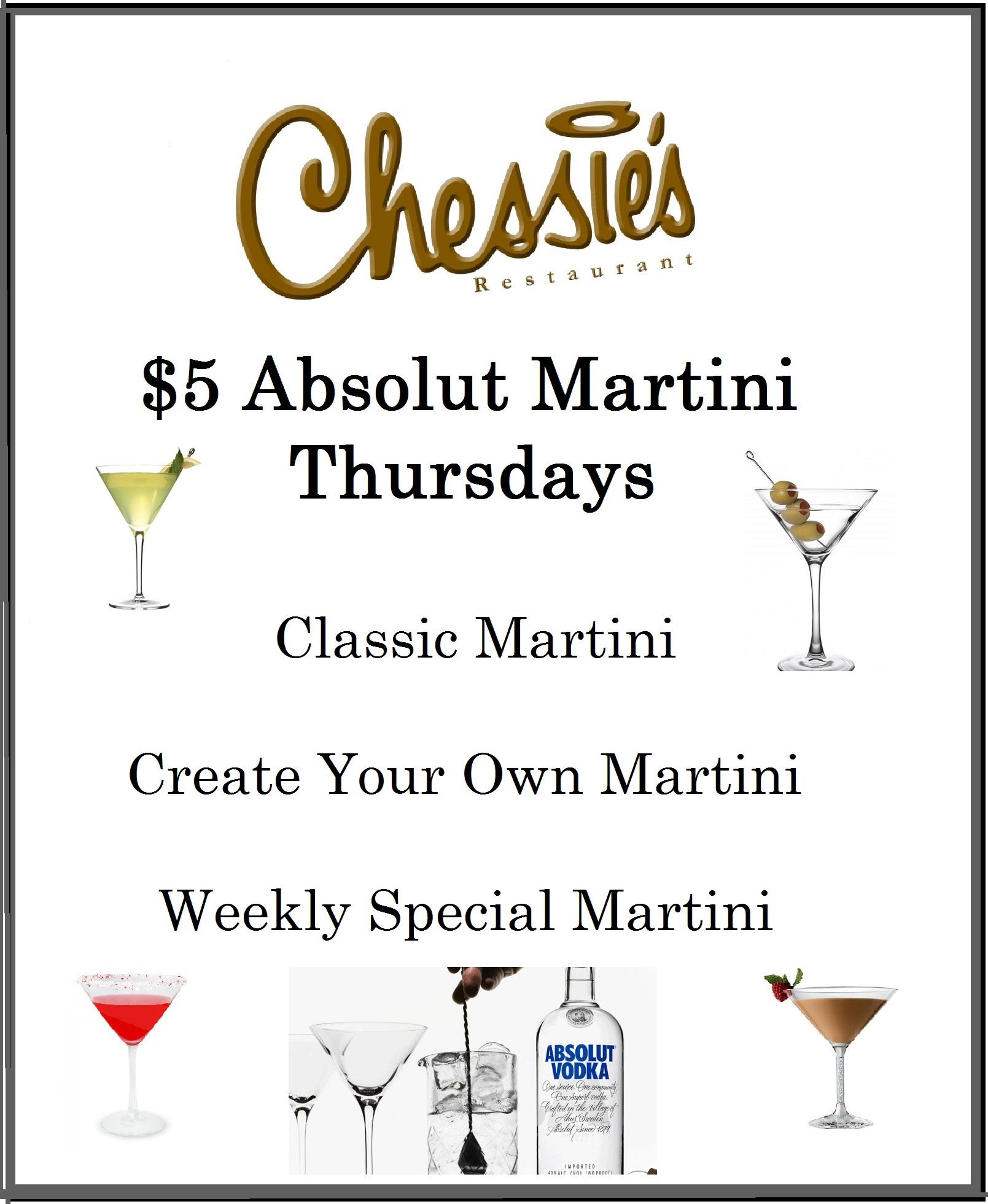 Chessie's $5 Martini Thursday