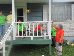 painting porch