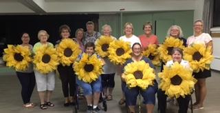 Sunflower wreath workshop
