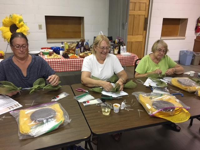 Sunflower wreath workshop