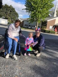 Church members outside at Trunk or Treat 2021
