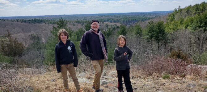 Hiking at Blue Hills Reservation