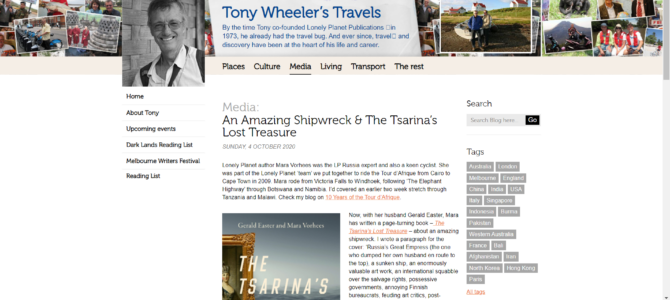 Tony Wheeler Reviews Tsarina