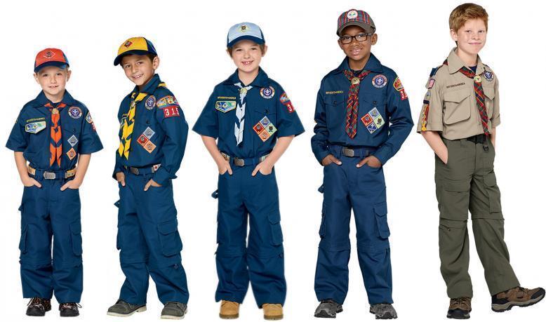 Cub Scouts (Tiger, Wolf, Bear, Webelos) in uniform