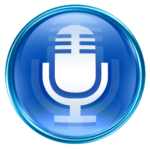 Audio Mic blue PNG