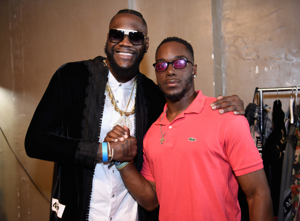 Deontay Wilder and Marcus Peterson at LAFW FW19 by Art Hearts Fashion