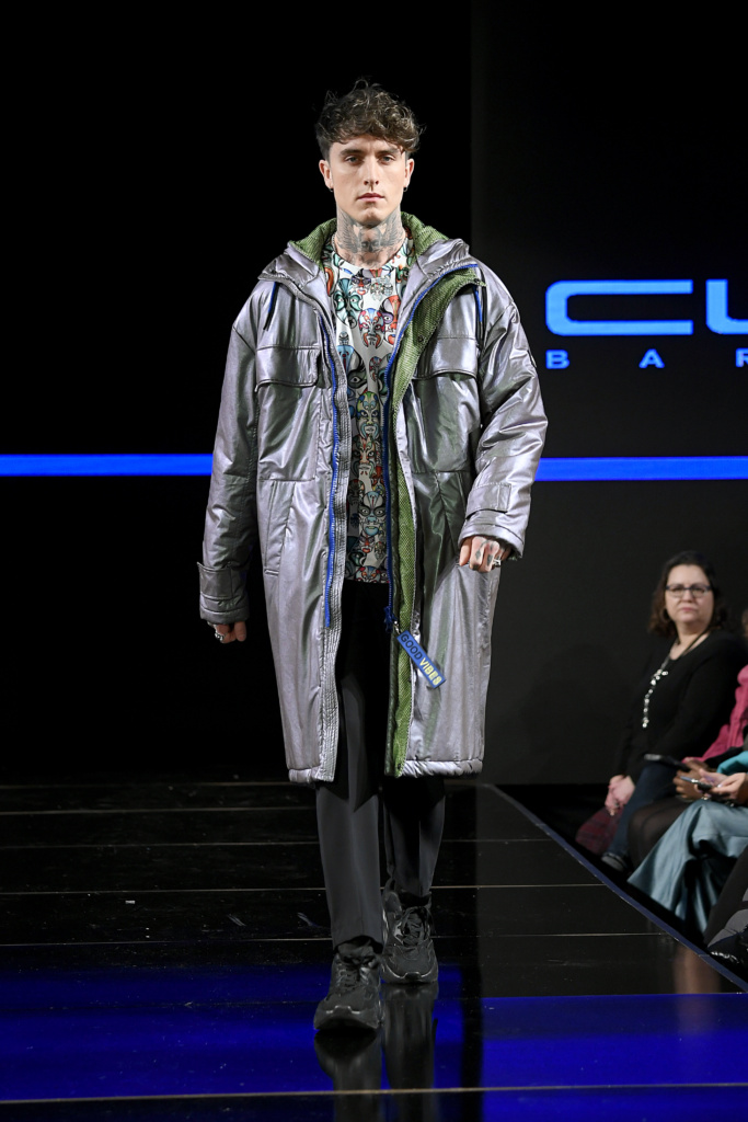 A model walks the runway during Custo Barcelona 25th Anniversary Spectacular At New York Fashion Week Powered By Art Hearts Fashion NYFW 2020 at The Angel Orensanz