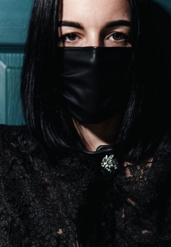 Candice Cuoco Leather Mask