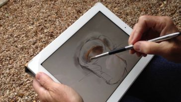 Painting on an iPad