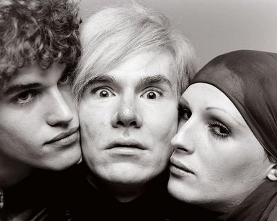 Candy Darling with Warhol